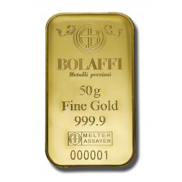 Lingotto Bolaffi Metalli Preziosi 50 gr.