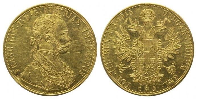 L'impero Austro Ungarico batte ancora monete d'oro